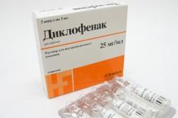 Диклофенак для снятия воспаления и боли