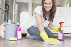 Влажная уборка для профилактики ринита